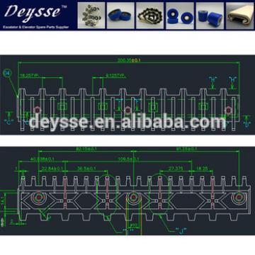 Yellow Hyundai Escalator Demarcation Line 645B032H04 C1-AL Step-9.125*22tooths