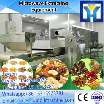 Continuous belt type paper products microwave dryer