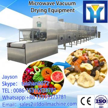 Microwave drying and sterilization for apple slice