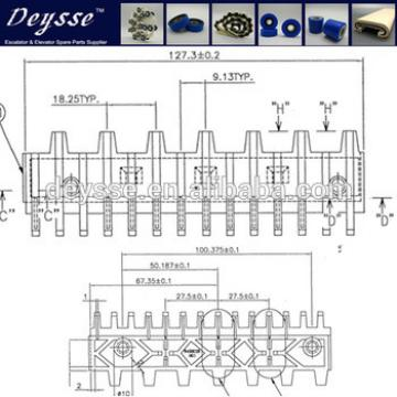 Hyundai Escalator Demarcation Line 645B028H01 C1-AL Step-9.125*14