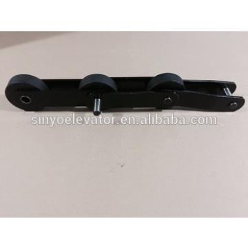 escalator step chain- Hyundai S650,T=135.47, roller is polyurethane(PU) with size 76x25