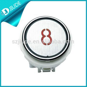Kone Round White button elevator