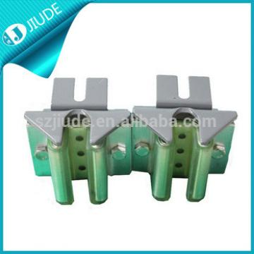 Elevator counterweight door guide shoe