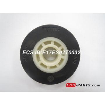 Escalator Step Roller of Fujitec 75*23.5 Black with white nylon bearing