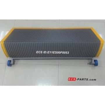 Replacement escalator step for schindler 1000mm grey with 5 side yellow plastic demarcation