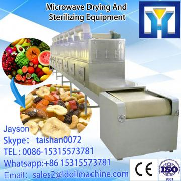 Continuous microwave dryer for all of the petals