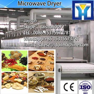 Tunnel conveyor belt type microwave dryer for red rose flower