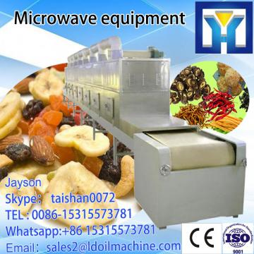 Fish meal microwave drying machine with tunnel continuous conveyor belt