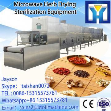 Continuous microwave sterilization machine for tomato sauce