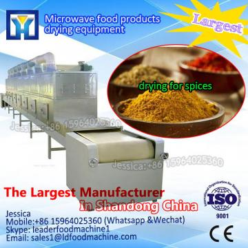 Conveyor belt tunnel type ginger powder microwave dehydration and sterilization equipment