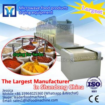 microwave tunnel pigeon pea / herbs drying and sterilization equipment