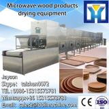 Continuous microwave drying and sterilizing machine for seasoning